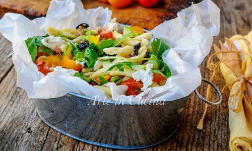 Trofie all'insalata con robiola pasta fredda