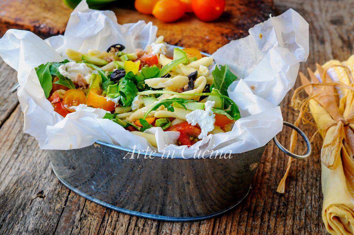 Trofie all'insalata con robiola pasta fredda vickyart arte in cucina