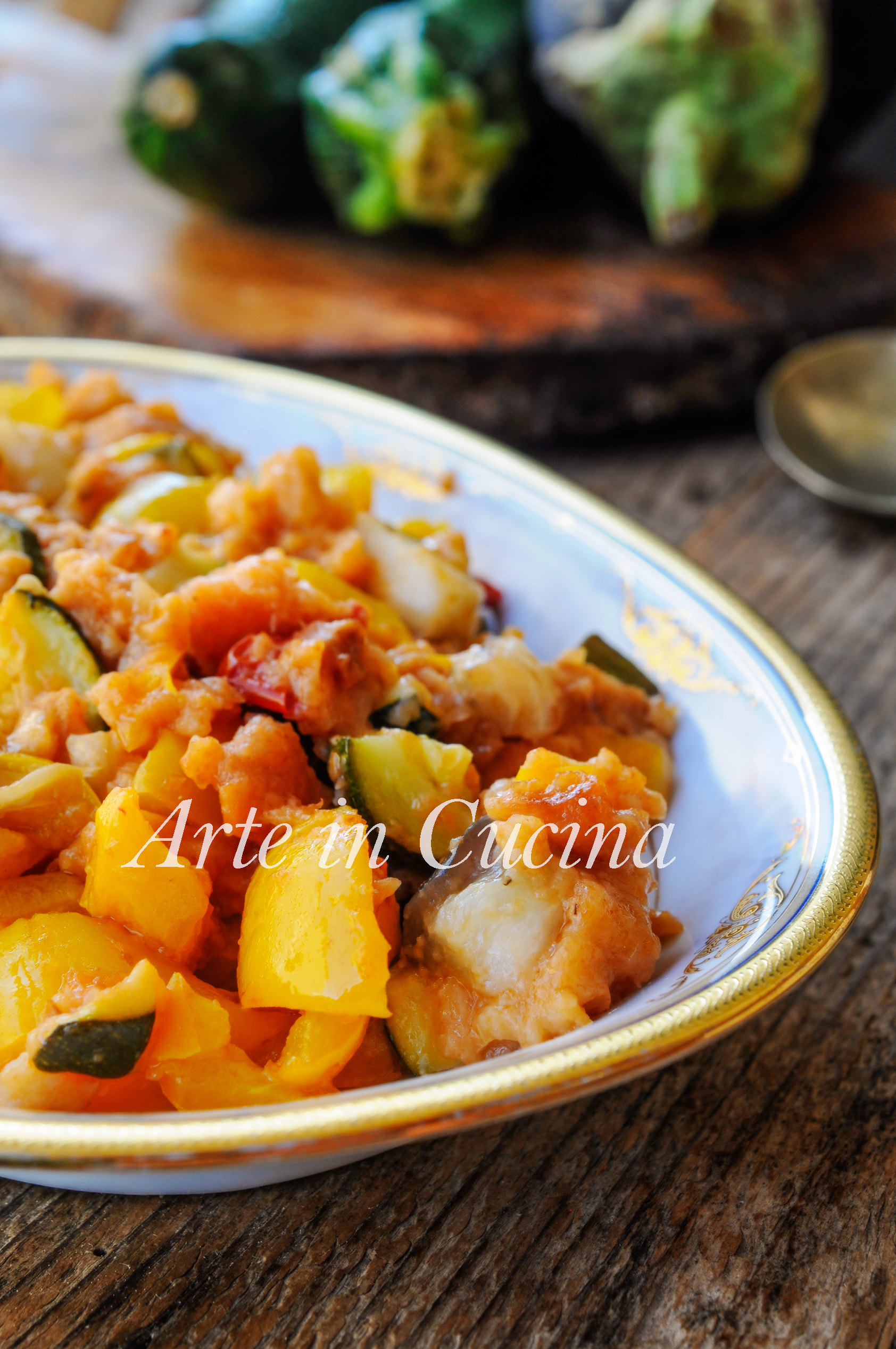 Verdure ammollicate in padella contorno saporito vickyart arte in cucina