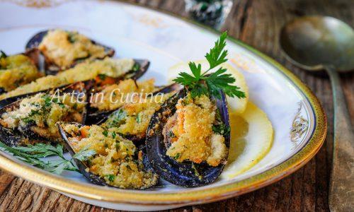 Cozze gratinate alla napoletana ricetta facile