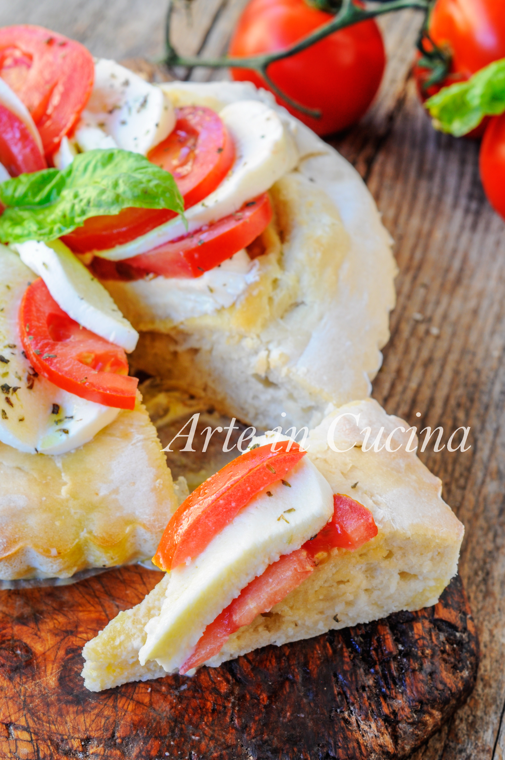 Crostata di pizza caprese soffice e facile vickyart arte in cucina