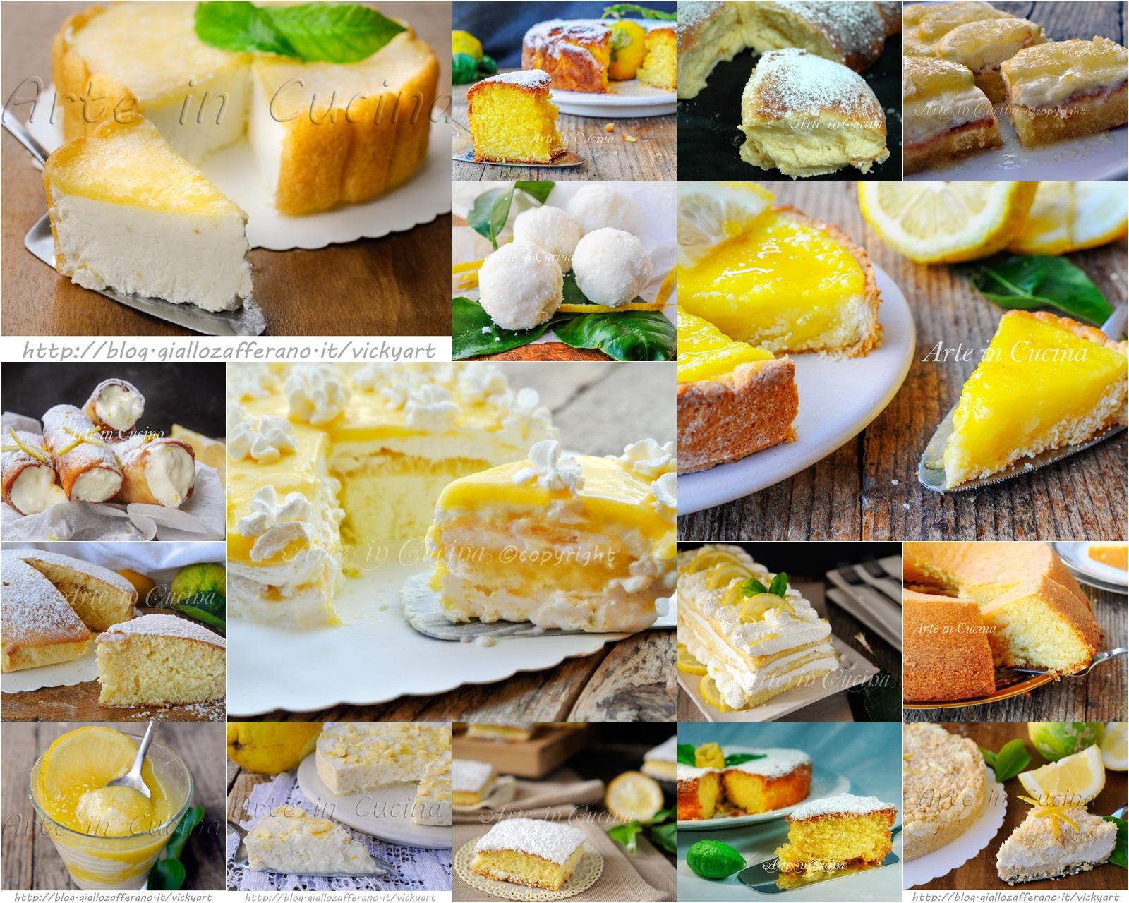 Dolci al limone ricette facili e golose vickyart arte in cucina