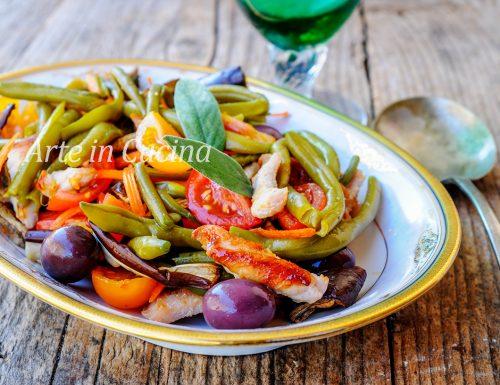 Insalata di pollo e fagiolini ricetta leggera