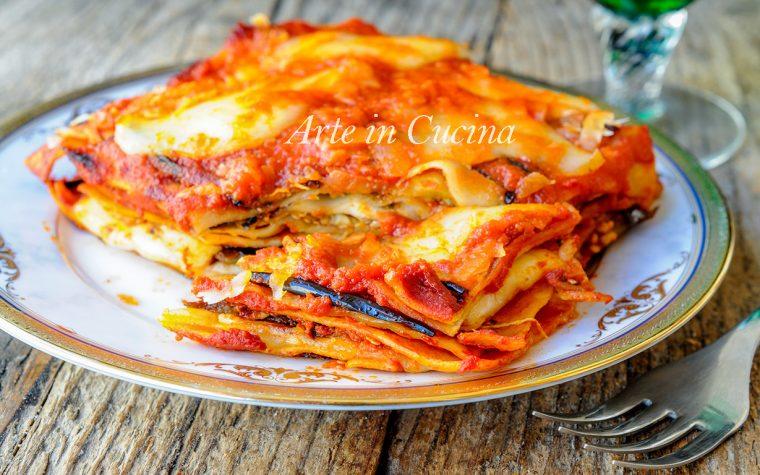Lasagne alla parmigiana di melanzane primo facile