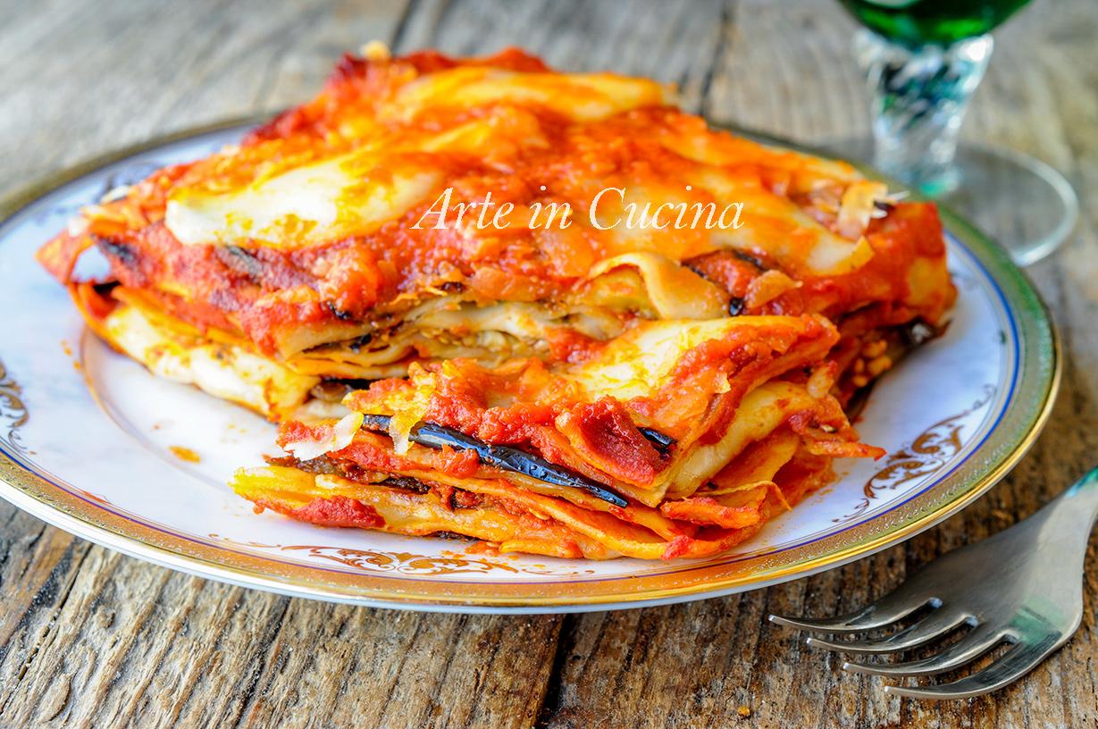 Lasagne alla parmigiana di melanzane primo facile vickyart arte in cucina