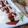 Mousse di ricotta con salsa di cioccolato al rosmarino vickyart arte in cucina