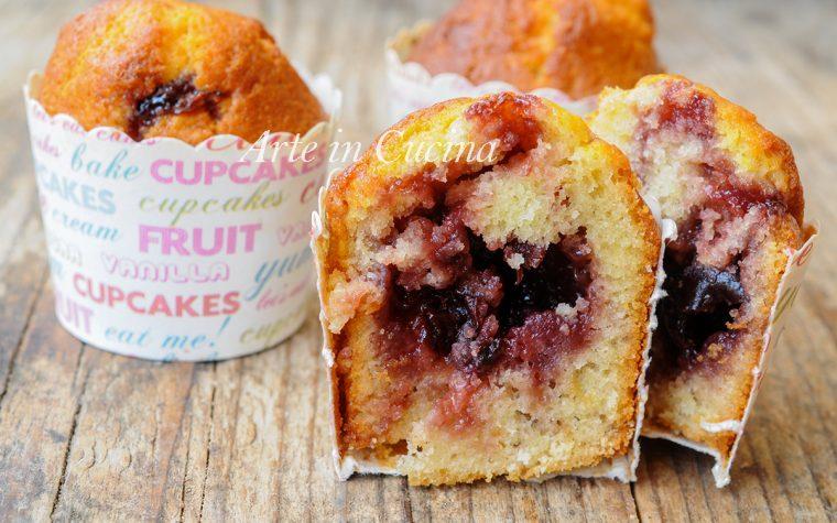Muffin cuore di marmellata morbidi facili e veloci