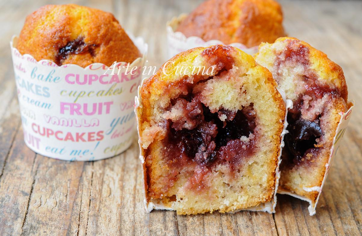 Ricetta Muffin Velocissimi.Muffin Cuore Di Marmellata Morbidi Facili E Veloci