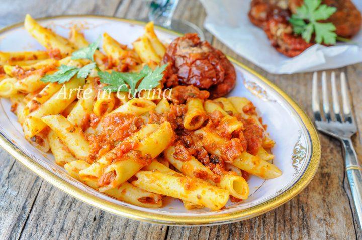 Pasta al pesto di pomodori secchi ricetta veloce vickyart arte in cucina