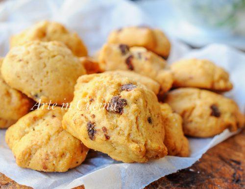 Pepite al cioccolato senza burro biscotti veloci