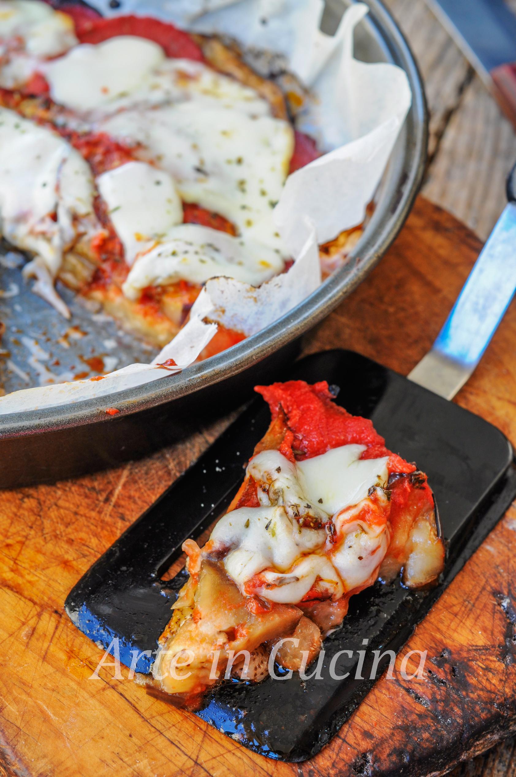 Pizza di melanzane al forno o in padella vickyart arte in cucina