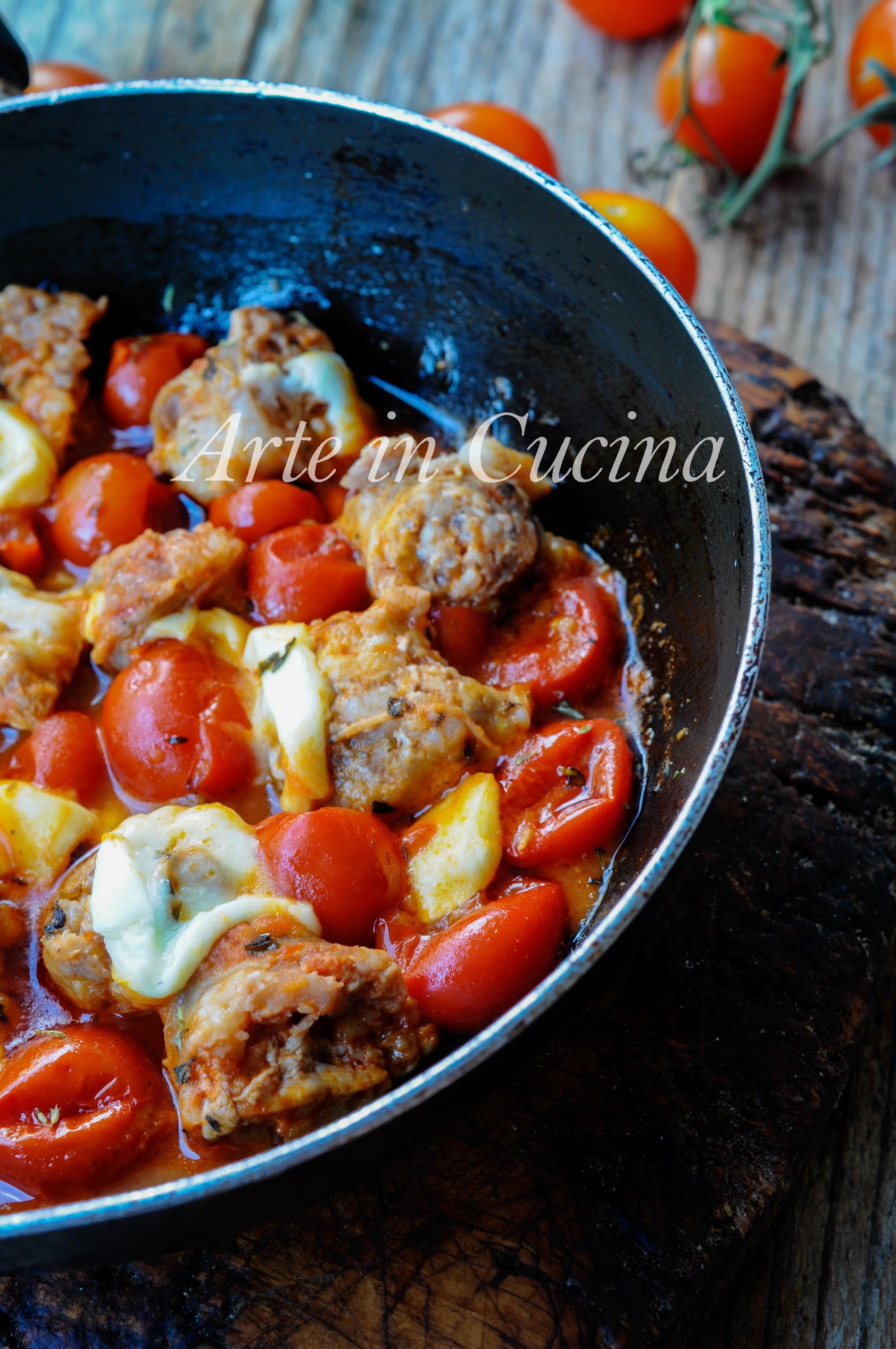 Salsicce alla pizzaiola in padella ricetta veloce vickyart arte in cucina