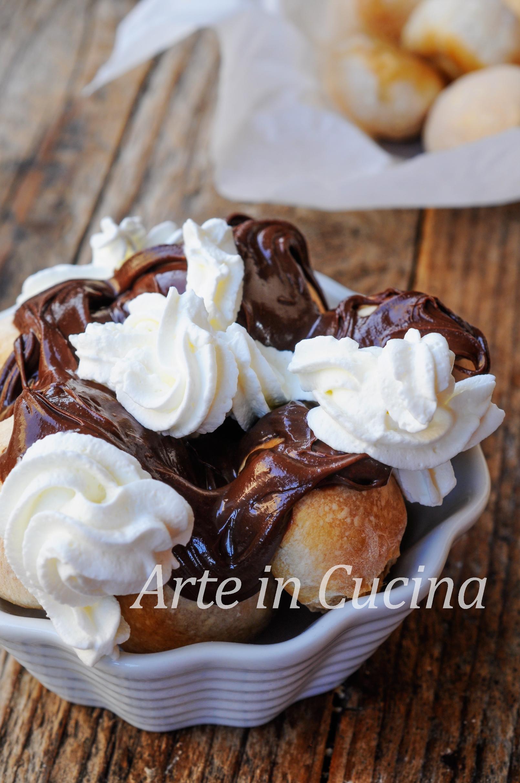 Scugnizzielli alla nutella e panna ricetta napoletana vickyart arte in cucina