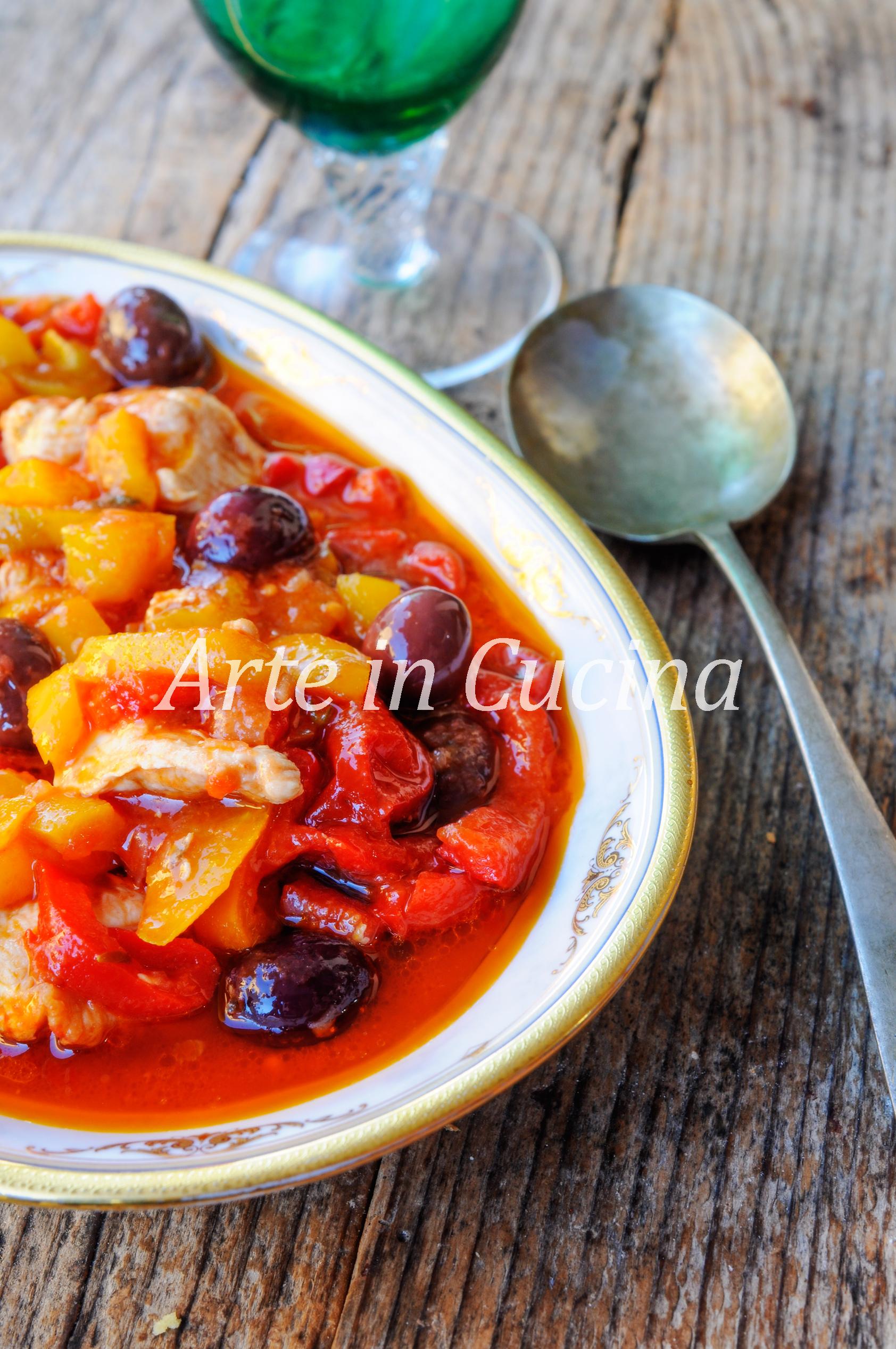 Spezzatino di tacchino ai peperoni ricetta veloce vickyart arte in cucina