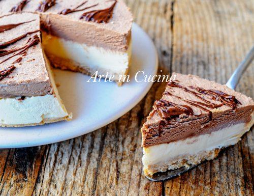 Torta fredda al doppio cioccolato dolce veloce
