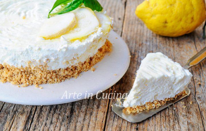 Torta fredda limone e cocco cremosissima e veloce