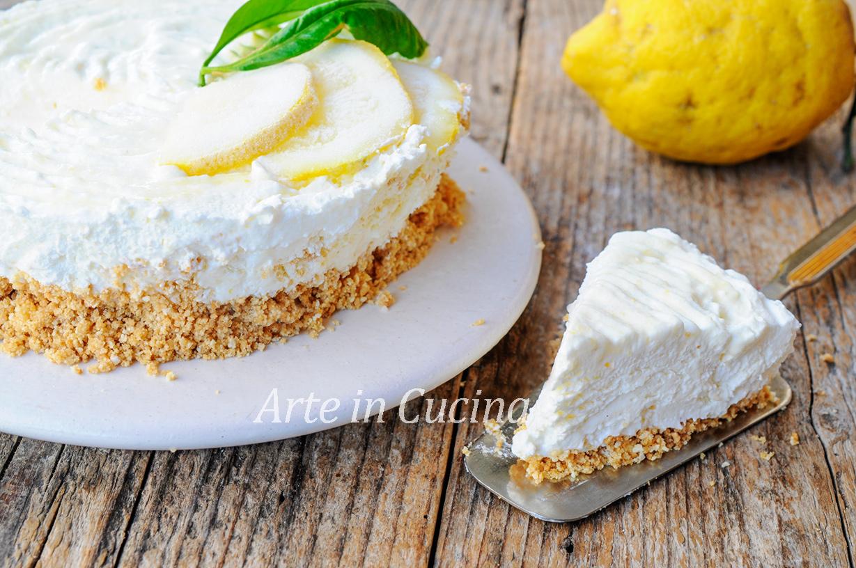 Torta fredda limone e cocco cremosissima e veloce vickyart arte in cucina