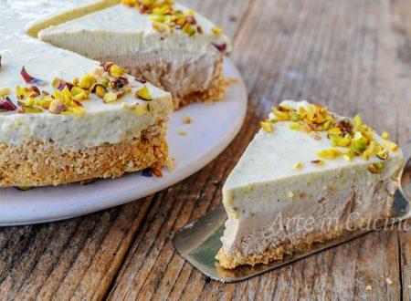 Torta fredda pistacchio e caffè dolce veloce