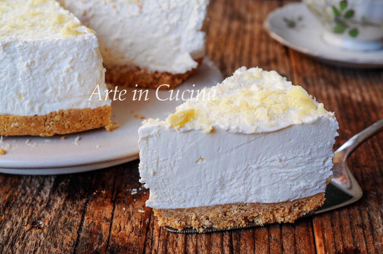 Cheesecake allo yogurt e cioccolato bianco veloce vickyart arte in cucina