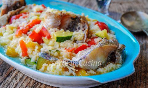 Cous cous con pesce e verdure alla tunisina