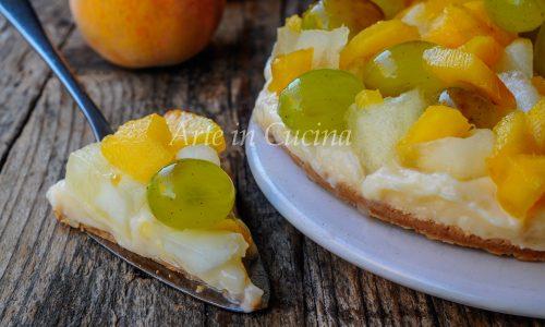 Crostata di frutta e crema senza forno veloce