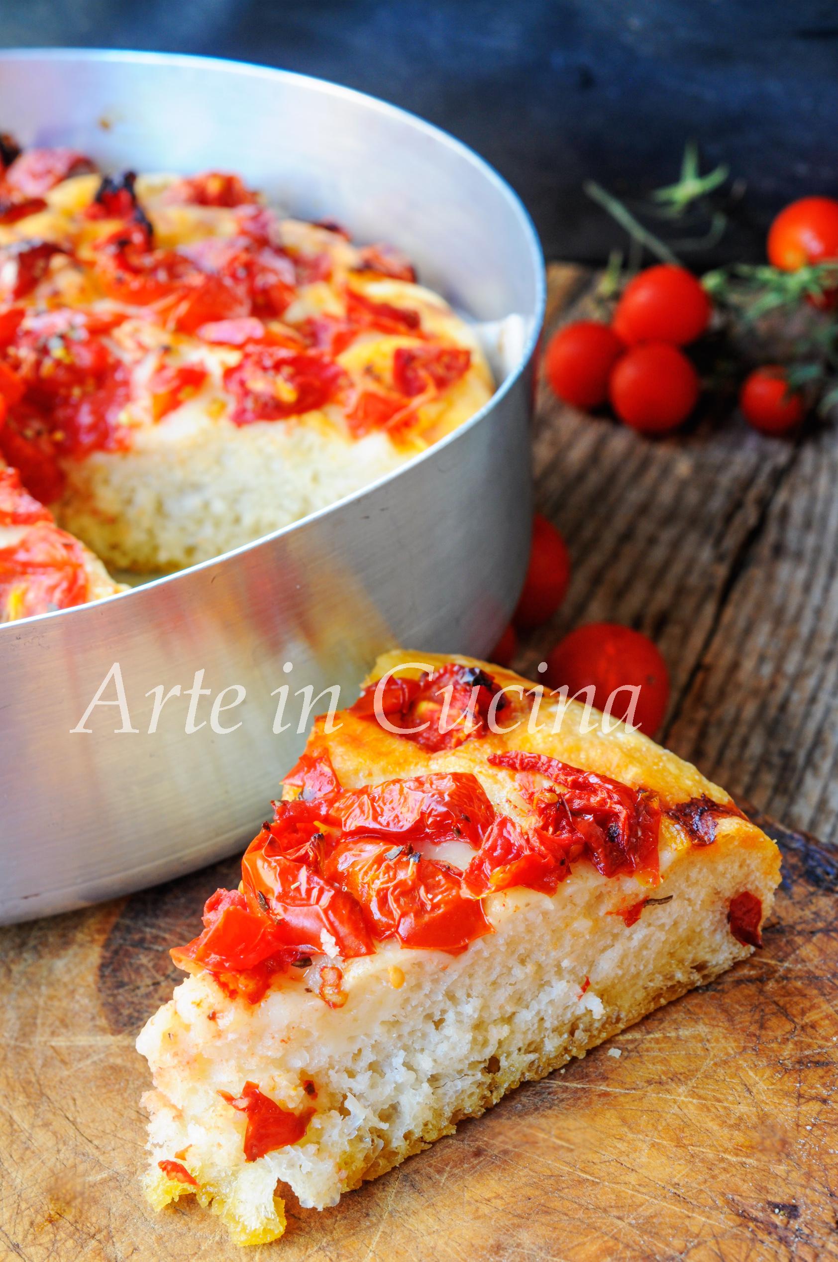 Focaccia ai pomodorini e origano bassa e soffice vickyart arte in cucina