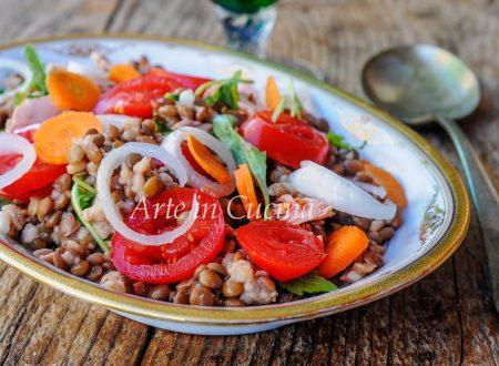 Insalata di lenticchie ricetta facile veloce leggera