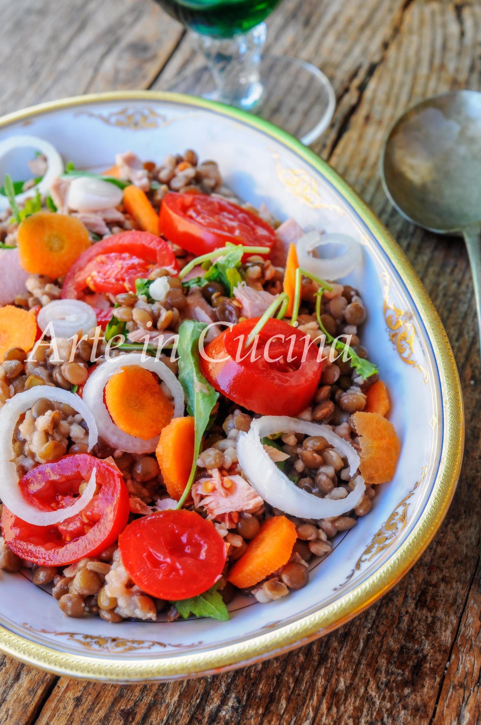 Insalata di lenticchie ricetta facile veloce leggera vickyart arte in cucina