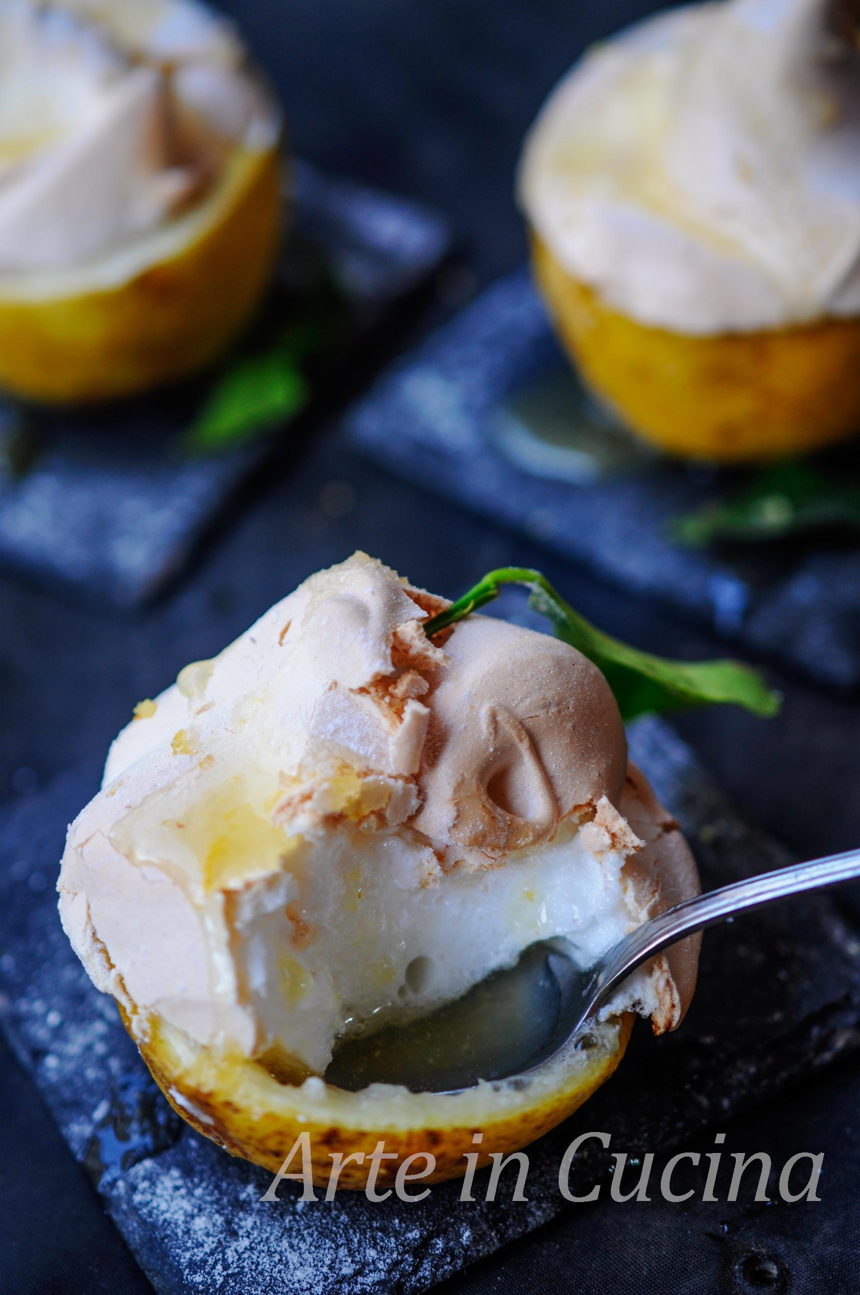 Limoni meringati ricetta siciliana antica vickyart arte in cucina
