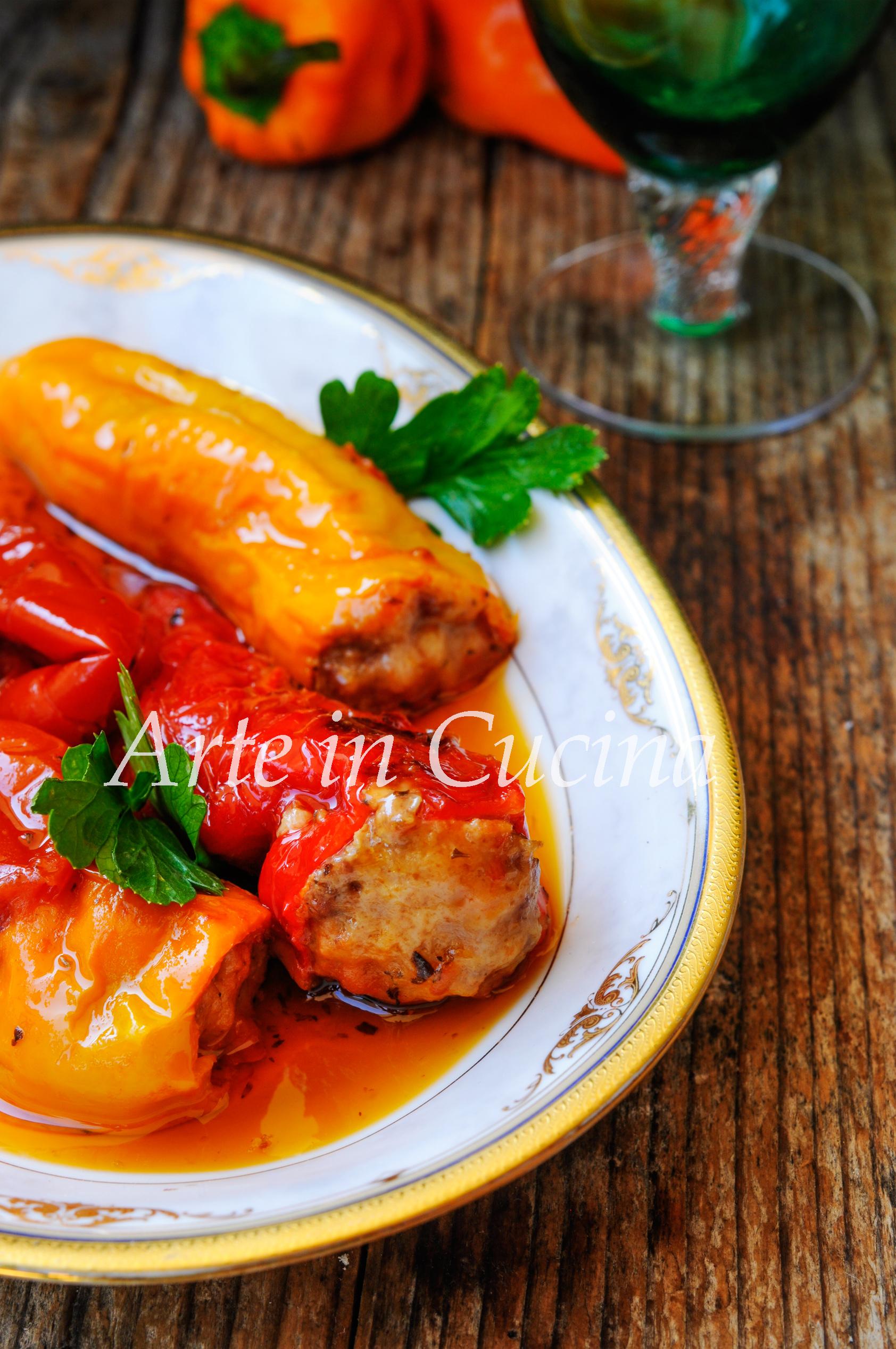 Peperoni cornetti ripieni di carne ricetta facile arte for Cucina facile ricette