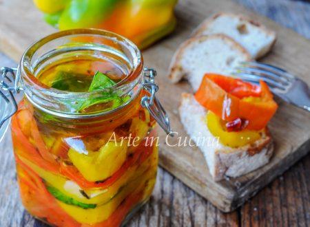 Peperoni sott'olio ricetta conserva facile
