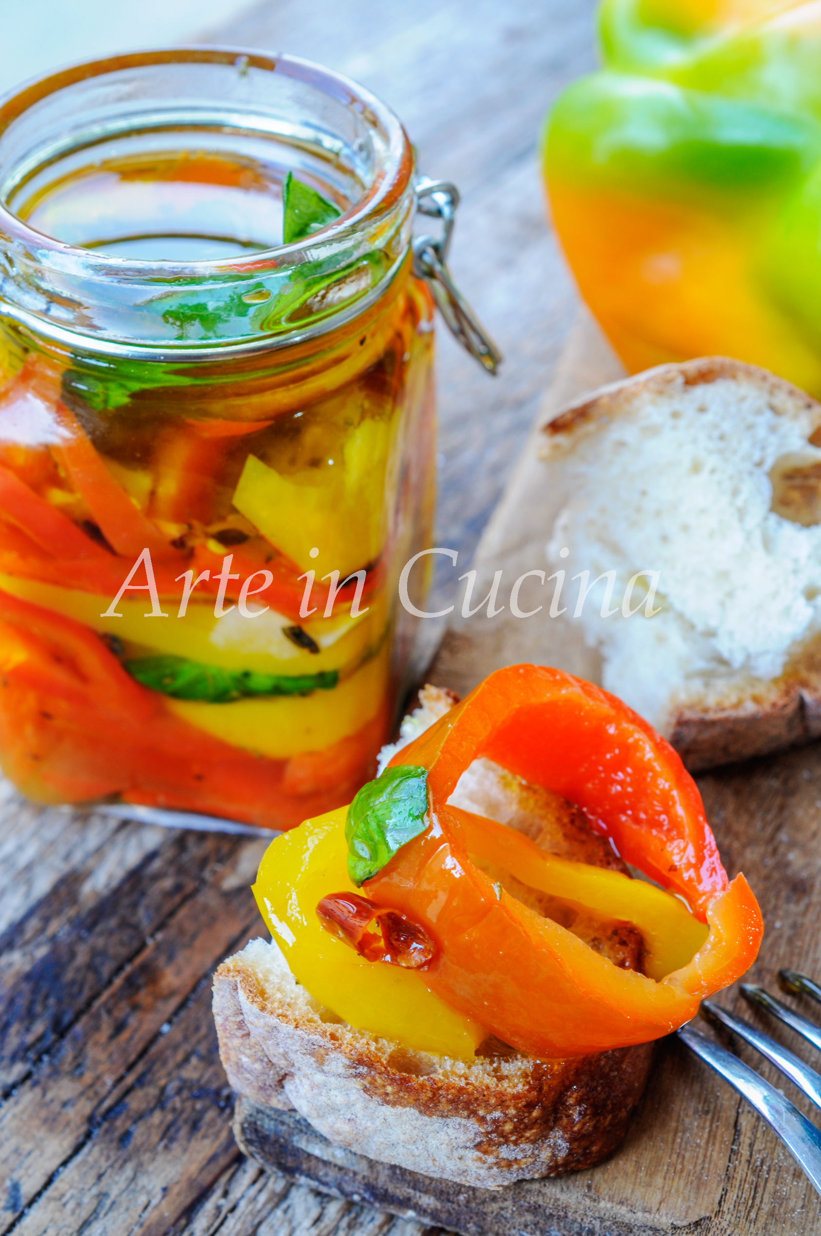 Peperoni sott 39 olio ricetta conserva facile arte in cucina for Cucina facile ricette
