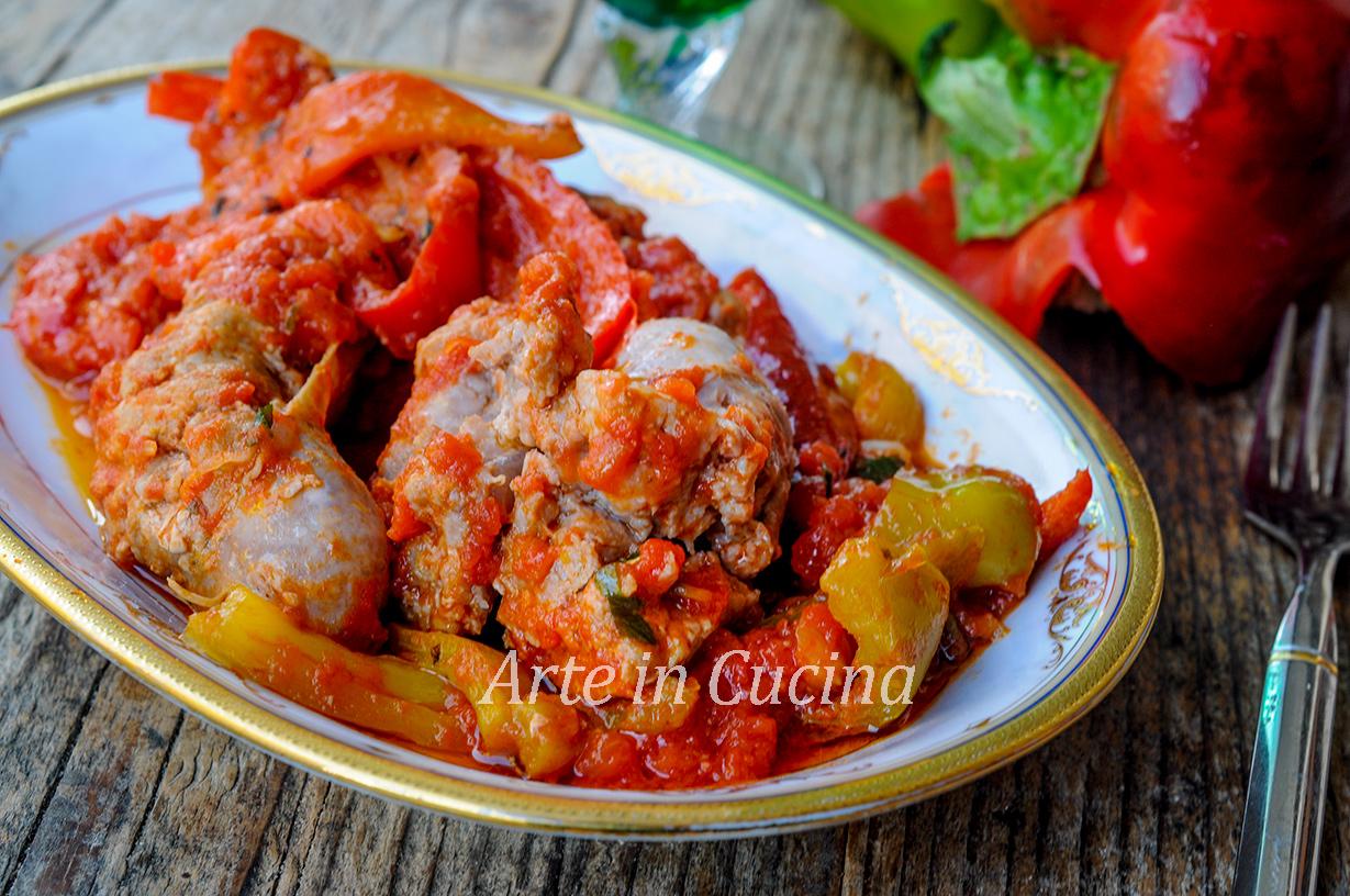 Peperoni con salsiccia in padella ricetta veloce vickyart arte in cucina