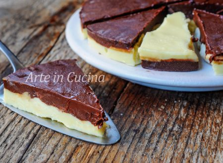 Torta fredda cioccolato e mandorle senza robot veloce