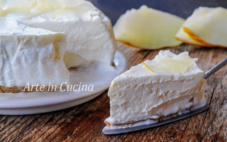 Torta fredda al melone bianco e cioccolato