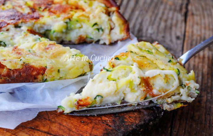 Torta salata senza uova zucchine e ricotta in padella