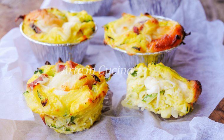 Tortini di zucchine patate e ricotta e velocissimi
