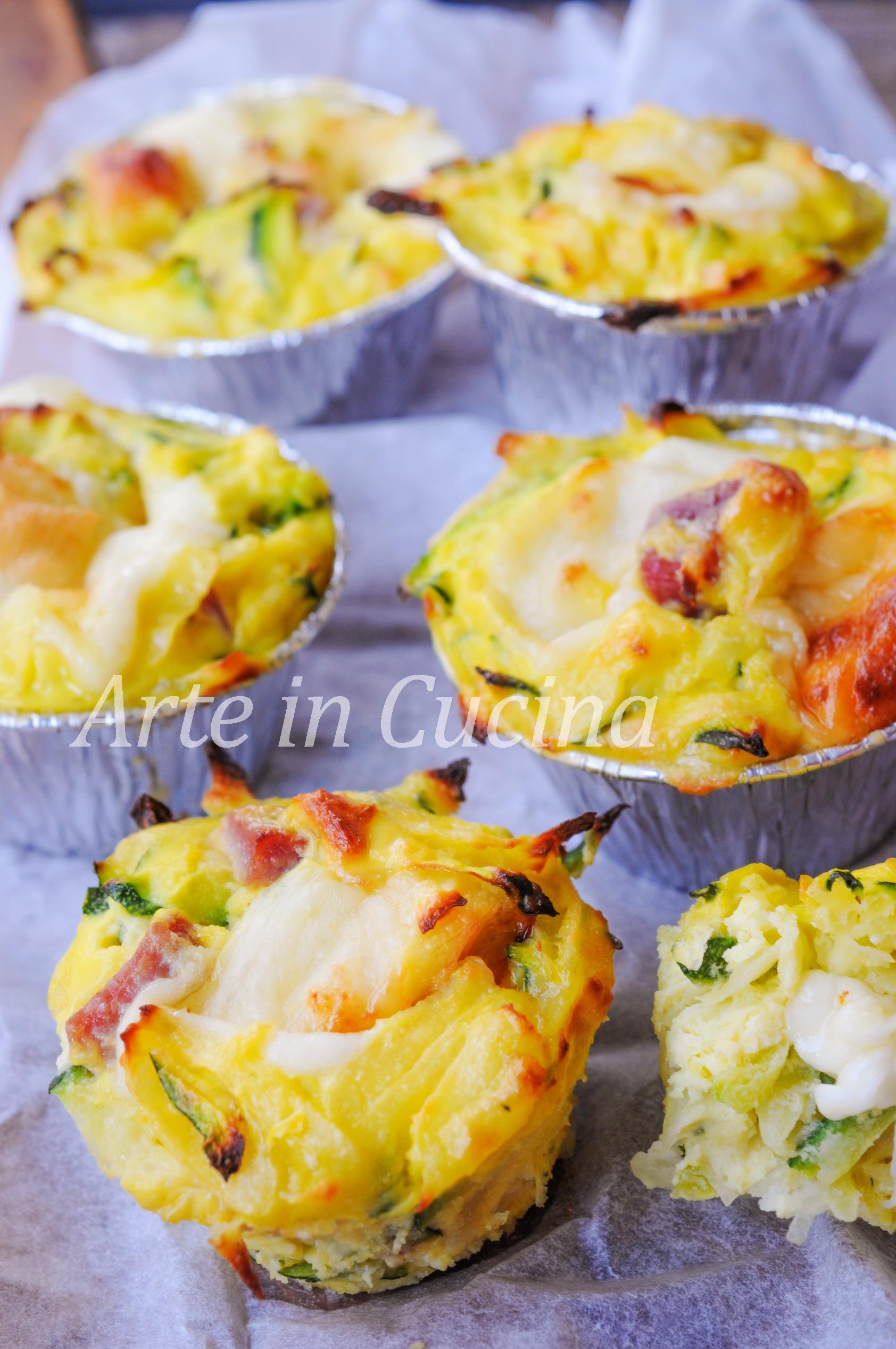 Tortini di zucchine patate e ricotta e velocissimi vickyart arte in cucina