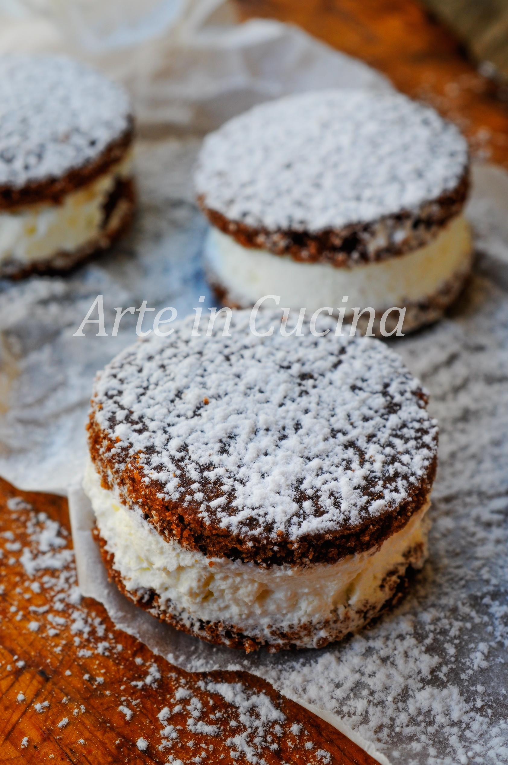 Whoopie pies alla panna dolci facili e veloci vickyart arte in cucina