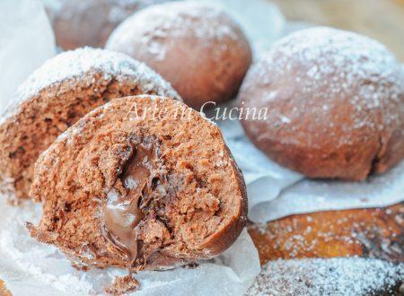 Bomboloni al cioccolato e nutella sofficissimi