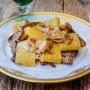Calamarata con funghi e prosciutto cremosa vickyart arte in cucina
