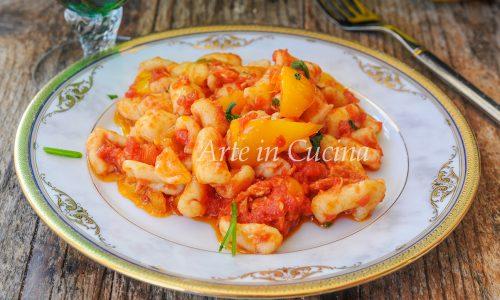 Cavatelli ai peperoni ricetta facile e veloce