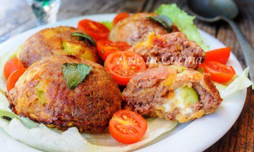 Cupolette di carne e zucchine al forno ricetta veloce