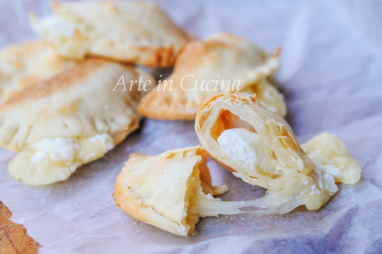Mezzelune ai formaggi con sfoglia senza burro vickyart arte in cucina