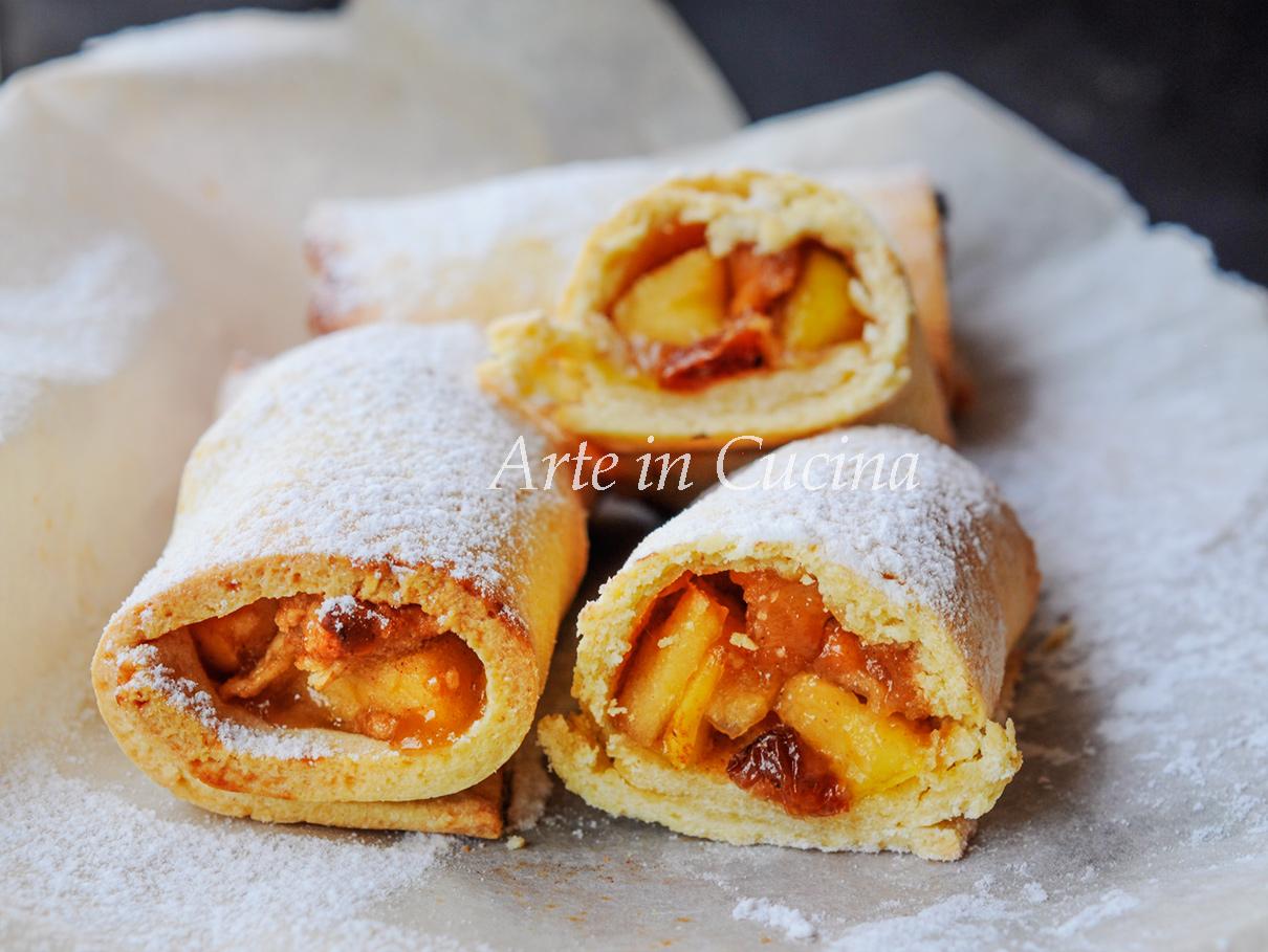 Mini strudel alle mele e cannella ricetta veloce vickyart arte in cucina