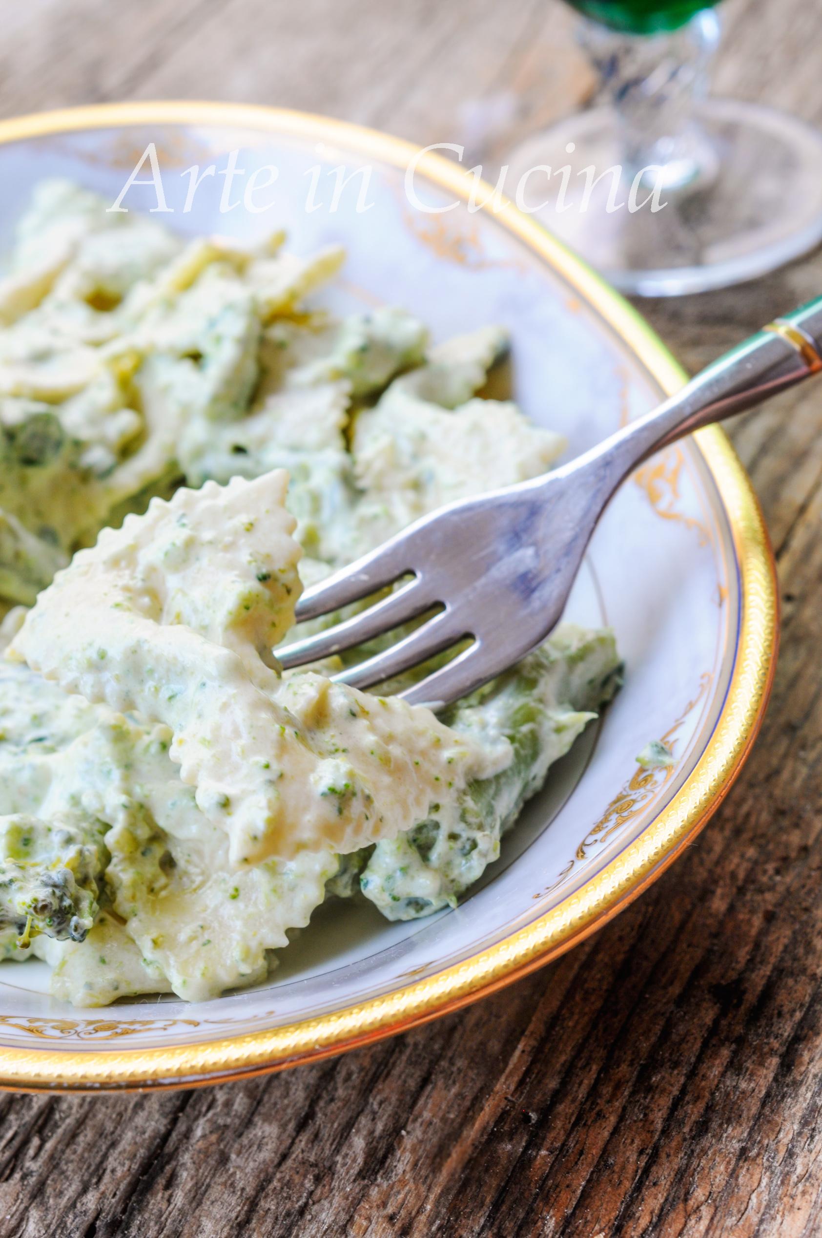 Pasta con broccoli cremosa facile e veloce vickyart arte in cucina
