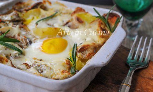 Patate e uova alla boscaiola ricetta facile