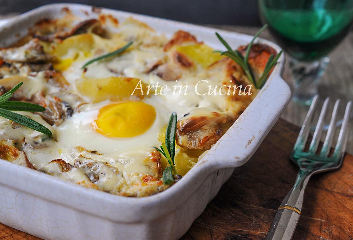 Patate e uova alla boscaiola ricetta facile vickyart arte in cucina