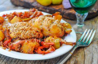 Pollo all'ananas e peperoni ricetta facile vickyart arte in cucina