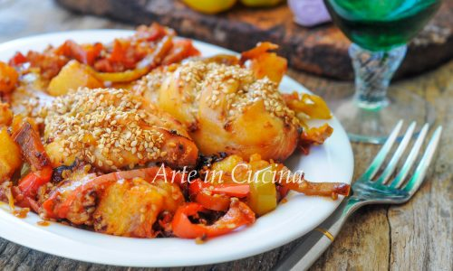 Pollo all'ananas e peperoni ricetta facile